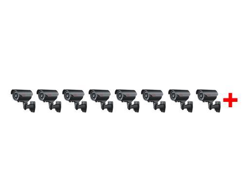 Встановлення більш ніж 8-ми зовнішніх (вуличних) відеокамер
